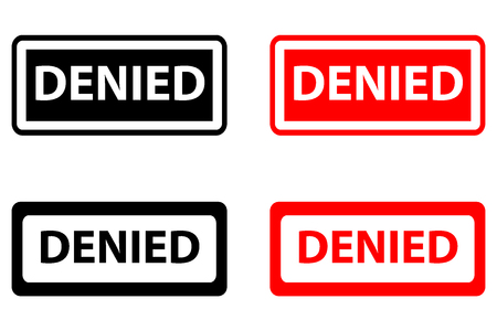 Denied - rubber stamp - vector - black and red Фото со стока - 111633584