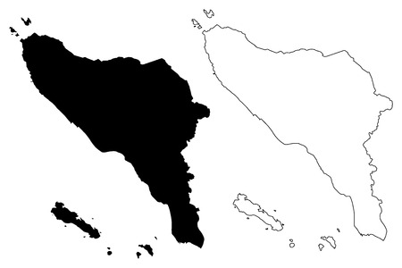 Aceh (Subdivisions of Indonesia, Provinces of Indonesia) map vector illustration, scribble sketch Aceh map