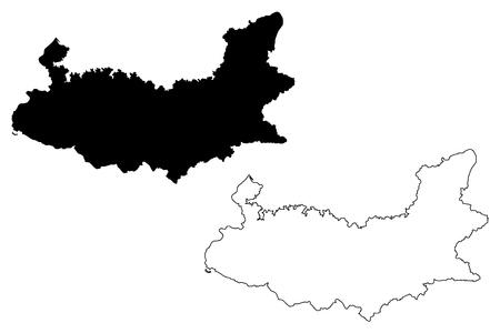 Elazig (Provinces of the Republic of Turkey) map vector illustration, scribble sketch Elazig ili map Illustration