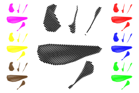 Lakshadweep (States and union territories of India, Federated states, Republic of India) map vector illustration, scribble sketch Laccadive, Minicoy, and Aminidivi Islands (Kavaratti, Agatti, Bangaram, Andrott, Kalpeni) map