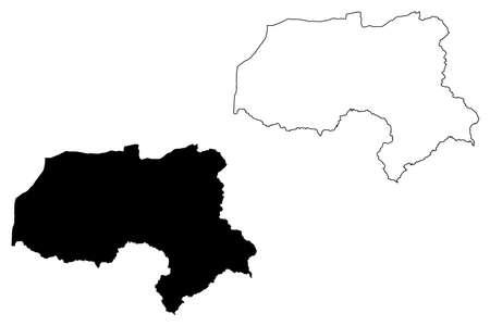 Hakkari (Provinces of the Republic of Turkey) map vector illustration, scribble sketch Hakkâri ili map Illustration