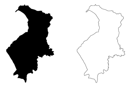 Hatay (Provinces of the Republic of Turkey) map vector illustration, scribble sketch Hatay ili map Illustration