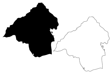 Isparta (Provinces of the Republic of Turkey) map vector illustration, scribble sketch Isparta ili map Illustration