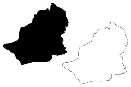 Kars (Provinces of the Republic of Turkey) map vector illustration, scribble sketch Kars ili map Illustration