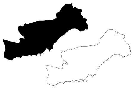 Mersin (Provinces of the Republic of Turkey) map vector illustration, scribble sketch Mersin ili map Illustration