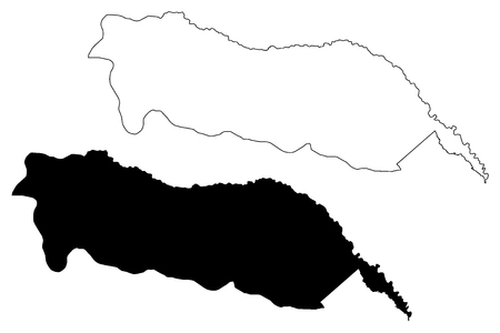 Igdir (Provinces of the Republic of Turkey) map vector illustration, scribble sketch Igdir ili map