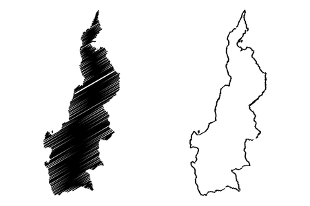 West Sulawesi (Subdivisions of Indonesia, Provinces of Indonesia) map vector illustration, scribble sketch Sulawesi Barat map