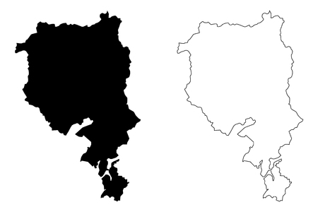 Ticino (Cantons of Switzerland, Swiss cantons, Swiss Confederation) map vector illustration, scribble sketch Republic and Canton of Ticino map