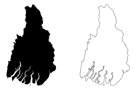Ayeyarwady Region (Administrative divisions of Myanmar, Republic of the Union of Myanmar, Burma) map vector illustration, scribble sketch Irrawaddy Division map Illustration