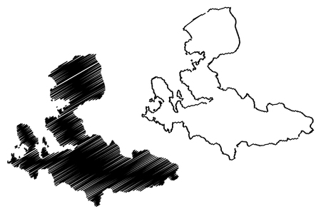 Izmir (Provinces of the Republic of Turkey) map vector illustration, scribble sketch Izmir ili map