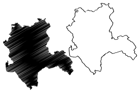 Konya (Provinces of the Republic of Turkey) map vector illustration, scribble sketch Konya ili map