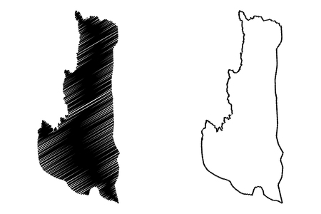Chin State (Administrative divisions of Myanmar, Republic of the Union of Myanmar, Burma) map vector illustration, scribble sketch Chin map
