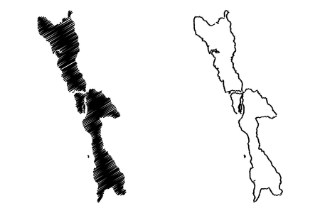 Mon State (Administrative divisions of Myanmar, Republic of the Union of Myanmar, Burma) map vector illustration, scribble sketch Mon State map