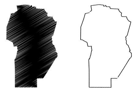 Cordoba (Region of Argentina, Argentine Republic, Provinces of Argentina) map vector illustration, scribble sketch Córdoba Province map