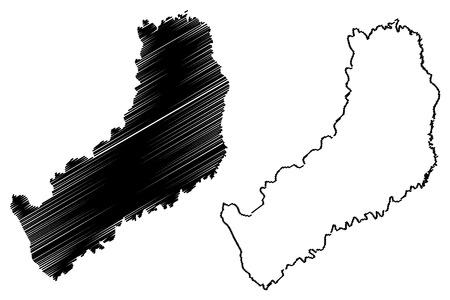 Misiones (Region of Argentina, Argentine Republic, Provinces of Argentina) map vector illustration, scribble sketch Misiones Province map