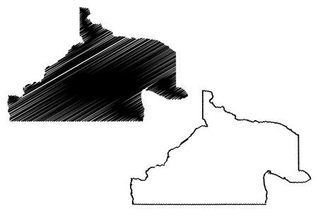 Rio Negro (Region of Argentina, Argentine Republic, Provinces of Argentina) map vector illustration, scribble sketch Río Negro Province map