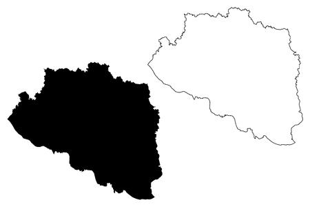 Rajshahi Division (Administrative Divisions of Bangladesh) map vector illustration, scribble sketch Rajshahi map