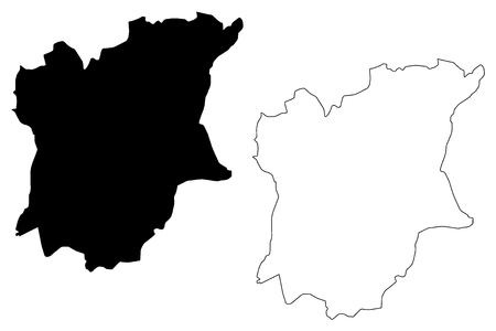 Osun State (Subdivisions of Nigeria, Federated state of Nigeria) map vector illustration, scribble sketch Osun map