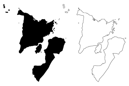 Western Visayas Region (Regions and provinces of the Philippines, Republic of the Philippines) map vector illustration, scribble sketch Region VI map
