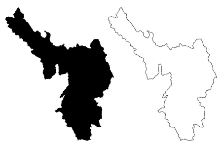 Dien Bien Province (Socialist Republic of Vietnam, Subdivisions of Vietnam) map vector illustration, scribble sketch Tinh Dien Bien map Illustration