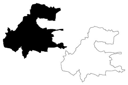 Presov City (Slovakia, Slovak Republic city) map vector illustration, scribble sketch City of Presov map