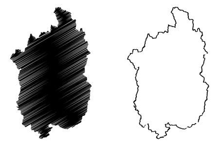 Shiga Prefecture (Administrative divisions of Japan, Prefectures of Japan) map vector illustration, scribble sketch Shiga map