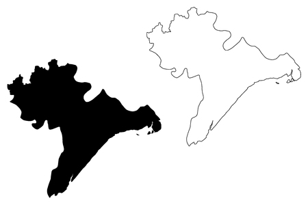Nam Dinh Province (Socialist Republic of Vietnam, Subdivisions of Vietnam) map vector illustration, scribble sketch Tinh Nam Dinh map Vector Illustration
