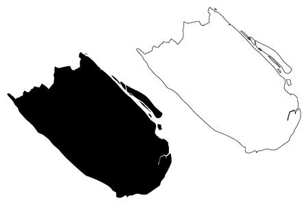 Tra Vinh Province (Socialist Republic of Vietnam, Subdivisions of Vietnam) map vector illustration, scribble sketch Tinh Tra Vinh map