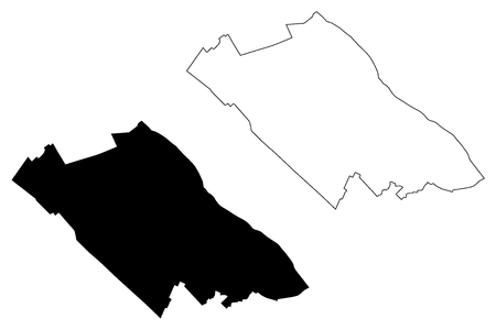 Can Tho Province (Socialist Republic of Vietnam, Subdivisions of Vietnam, Municipality) map vector illustration, scribble sketch Can Tho map