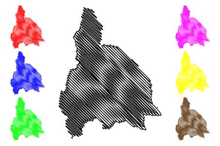 San Juan (Region of Argentina, Argentine Republic, Provinces of Argentina) map vector illustration, scribble sketch San Juan Province map