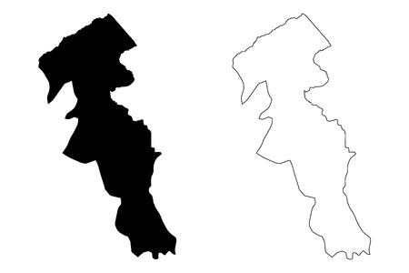 Ardabil Province (Provinces of Iran, Islamic Republic of Iran, Persia) map vector illustration, scribble sketch Ardabil map