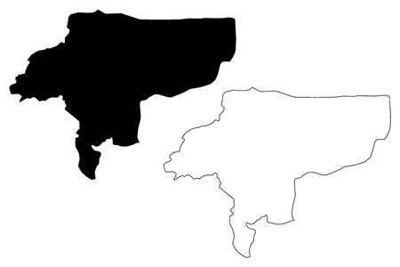 Isfahan Province (Provinces of Iran, Islamic Republic of Iran, Persia) map vector illustration, scribble sketch Isfahan map