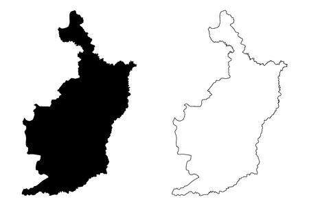 Buriram Province (Kingdom of Thailand, Siam, Provinces of Thailand) map vector illustration, scribble sketch Buriram map