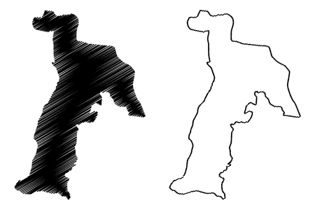 Abia State (Subdivisions of Nigeria, Federated state of Nigeria) map vector illustration, scribble sketch Abia map