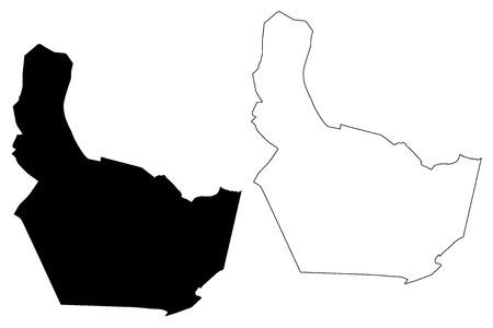 Nonthaburi Province (Kingdom of Thailand, Siam, Provinces of Thailand) map vector illustration, scribble sketch Nonthaburi map Иллюстрация