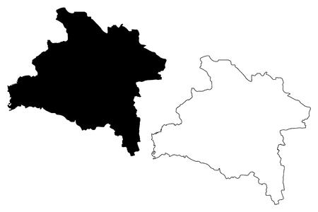 Prachinburi Province (Kingdom of Thailand, Siam, Provinces of Thailand) map vector illustration, scribble sketch Prachinburi map Иллюстрация