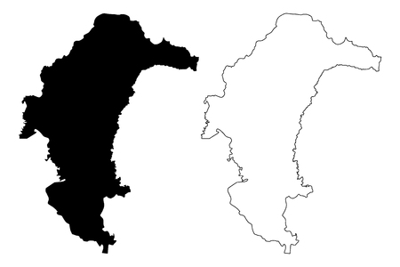Yasothon Province (Kingdom of Thailand, Siam, Provinces of Thailand) map vector illustration, scribble sketch Yasothon map Иллюстрация