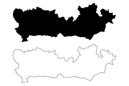Berkshire (United Kingdom, England, Non-metropolitan county, shire county) map vector illustration, scribble sketch Royal County of Berkshire (Berks, Barkeshire) map