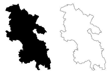 Buckinghamshire (United Kingdom, England, Non-metropolitan county, shire county) map vector illustration, scribble sketch Bucks map