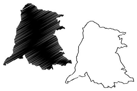 Equateuri Province (Democratic Republic of the Congo, DR Congo, DRC, Congo-Kinshasa) map vector illustration, scribble sketch Province of Equateuri map