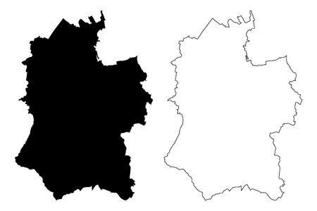 Wiltshire (United Kingdom, England, Non-metropolitan county, shire county) map vector illustration, scribble sketch Wiltshire map