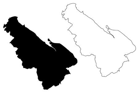 Flintshire (United Kingdom, Wales, Cymru, Principal areas of Wales) map vector illustration, scribble sketch Flintshire map
