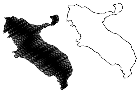 Ilam Province (Provinces of Iran, Islamic Republic of Iran, Persia) map vector illustration, scribble sketch Ilam map 向量圖像
