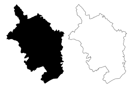 Monmouthshire (United Kingdom, Wales, Cymru, Principal areas of Wales) map vector illustration, scribble sketch County of Monmouthshire map