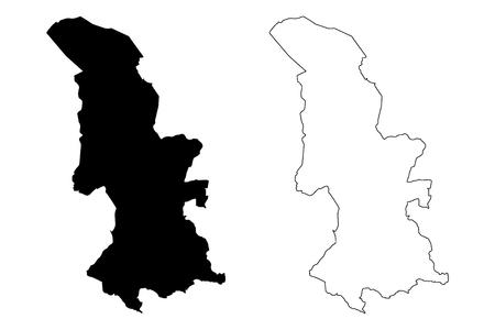 Torfaen (United Kingdom, Wales, Cymru, Principal areas of Wales) map vector illustration, scribble sketch Torfaen County Borough  map