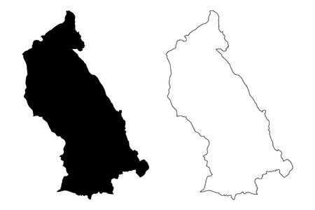 Rhondda Cynon Taf (United Kingdom, Wales, Cymru, Principal areas of Wales) map vector illustration, scribble sketch Rhondda Cynon Taf County Borough map Иллюстрация