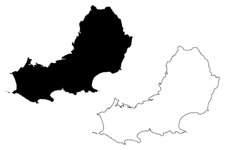Swansea Cynon Taf (United Kingdom, Wales, Cymru, Principal areas of Wales) map vector illustration, scribble sketch City and County of Swansea map Vetores