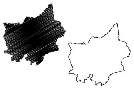 Binh Phuoc Province (Socialist Republic of Vietnam, Subdivisions of Vietnam) map vector illustration, scribble sketch Tinh Binh Phuoc map
