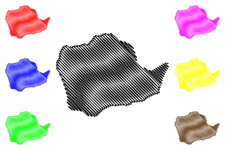 Kinshasa Province (Democratic Republic of the Congo, DR Congo, DRC, Congo-Kinshasa) map vector illustration, scribble sketch Leopoldville map