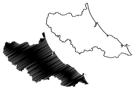 Ha Tinh Province (Socialist Republic of Vietnam, Subdivisions of Vietnam) map vector illustration, scribble sketch Tinh Ha Tinh map Иллюстрация